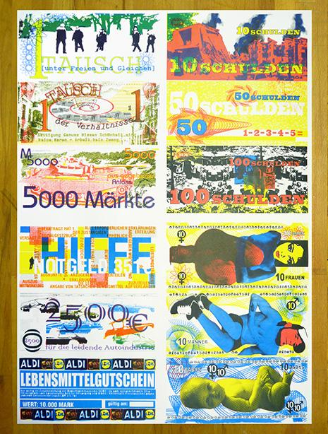 Money, Plakat mit 12 Nutzen